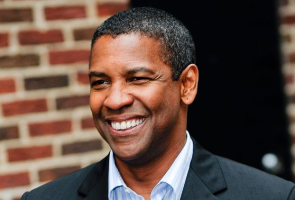 "Denzel Washington Visits ""Late Show With David Letterman"""