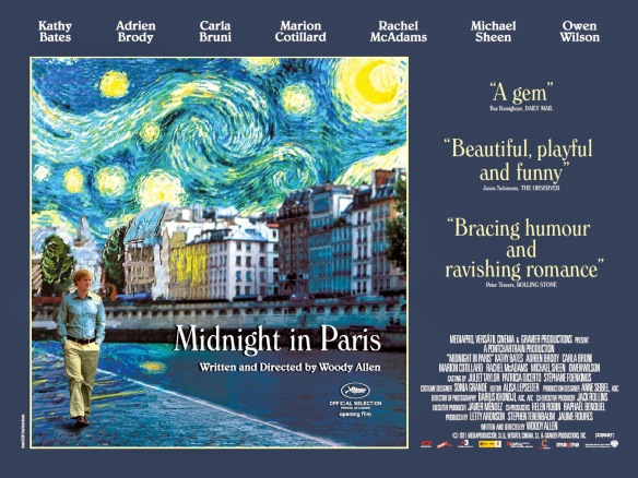 MIDNIGHT IN PARIS - UK Poster by Cardinal Communications USA