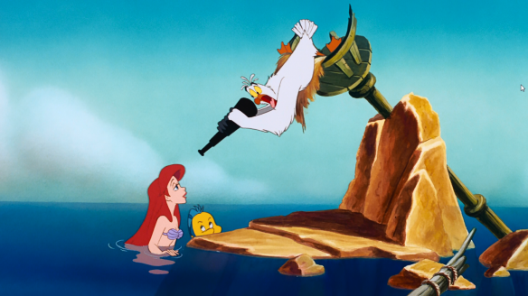 The Little Mermaid 1989 Disney Ariel Flounder and Scuttle